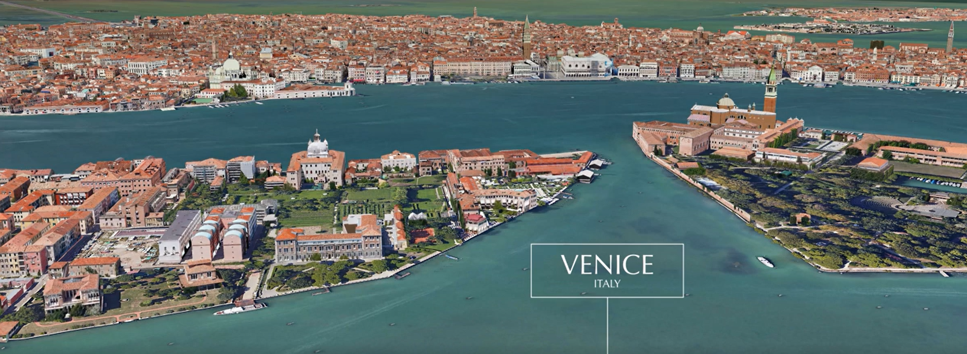 Google maps preview of venice